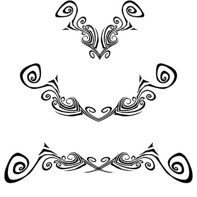 Lower Back Design Water Transfer Temporary Tattoo(fake Tattoo) Stickers NO.10800