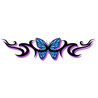 Lower Back Fairy Design Water Transfer Temporary Tattoo(fake Tattoo) Stickers NO.10795
