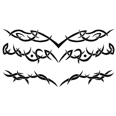 Lower Back Tribal Design Water Transfer Temporary Tattoo(fake Tattoo) Stickers NO.10802
