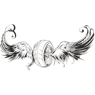 Lower Back Wings Design Water Transfer Temporary Tattoo(fake Tattoo) Stickers NO.10812
