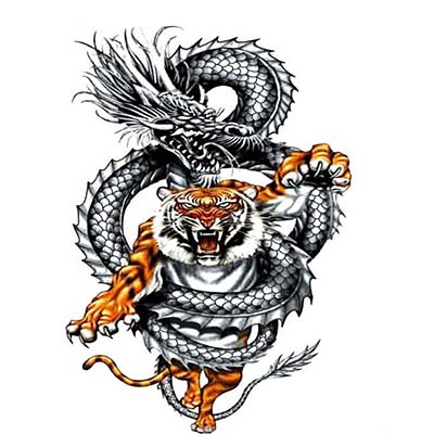 2018 hot Enter the Dragon large men Arm wrist chest back leg Big Design Water Transfer Temporary Tattoo(fake Tattoo) Stickers NO.10815