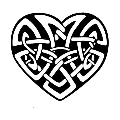 Celtic Knot And Heart On Wrist Design Water Transfer Temporary Tattoo(fake Tattoo) Stickers NO.10823
