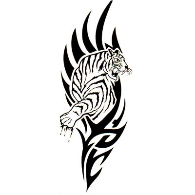 Disposable induced waterproof female tiger Design Water Transfer Temporary Tattoo(fake Tattoo) Stickers NO.10833