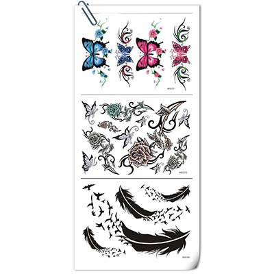 New 2018 Waterproof Color Black Design Water Transfer Temporary Tattoo(fake Tattoo) Stickers NO.10836