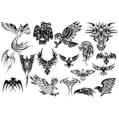 African birds designs Water Transfer Temporary Tattoo(fake Tattoo) Stickers NO.10832