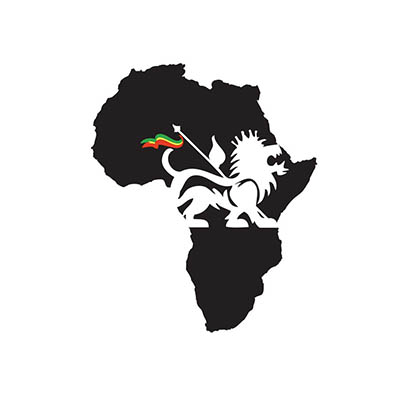 Black african map and lion with flag design Water Transfer Temporary Tattoo(fake Tattoo) Stickers NO.10837