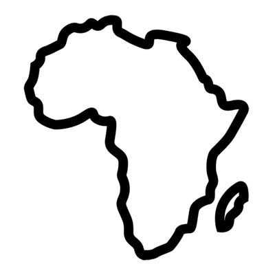 Outline African Map Design Water Transfer Temporary Tattoo Fake