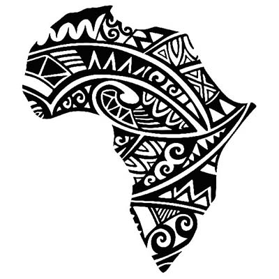 Traditional African Map Design Water Transfer Temporary Tattoo(fake Tattoo) Stickers NO.10842