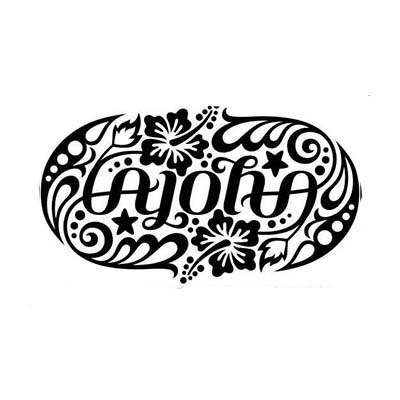 Aloha Ambigram Design Water Transfer Temporary Tattoo(fake Tattoo) Stickers NO.10849