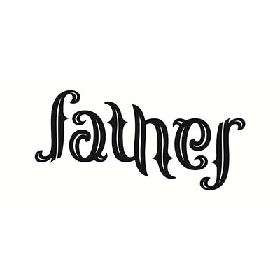 Father Ambigram Design Idea Water Transfer Temporary Tattoo(fake Tattoo) Stickers NO.10852