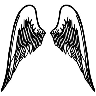 Angel Black Wings Design Water Transfer Temporary Tattoo(fake Tattoo) Stickers NO.10863