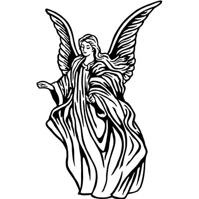 Angel Design Water Transfer Temporary Tattoo(fake Tattoo) Stickers NO.10859