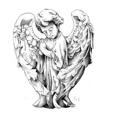 Angel Design Water Transfer Temporary Tattoo(fake Tattoo) Stickers NO.10860