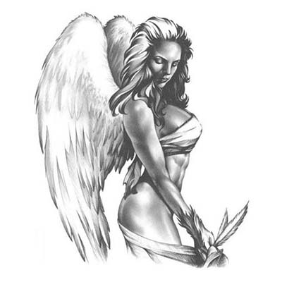 Angel Design Water Transfer Temporary Tattoo(fake Tattoo) Stickers NO.10869