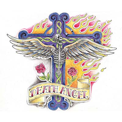 Angel Standing Design Water Transfer Temporary Tattoo(fake Tattoo) Stickers NO.10868