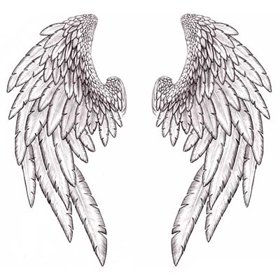 Angel Wing Design Water Transfer Temporary Tattoo(fake Tattoo) Stickers NO.10874