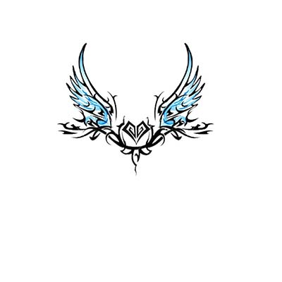 Angel Wings on Lower Back Design Water Transfer Temporary Tattoo(fake Tattoo) Stickers NO.10875