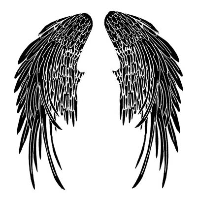 Angel With Angle Wings Design Water Transfer Temporary Tattoo(fake Tattoo) Stickers NO.10873
