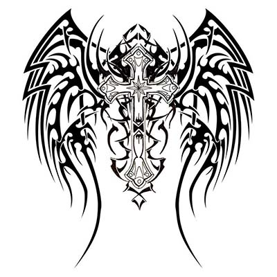 Angel With Sword Design On Back Design Water Transfer Temporary Tattoo(fake Tattoo) Stickers NO.10878