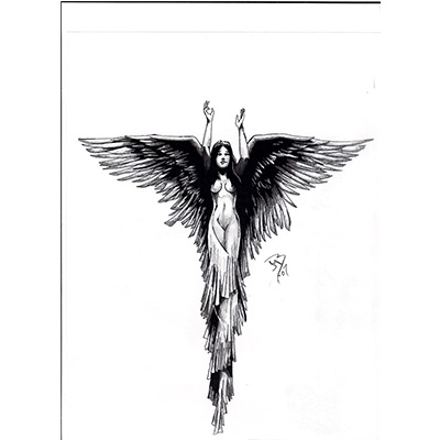Angel pinterest Design Water Transfer Temporary Tattoo(fake Tattoo) Stickers NO.10872