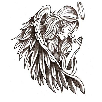 Beautiful Angel Design Water Transfer Temporary Tattoo(fake Tattoo) Stickers NO.10881