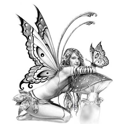 Elegant Angel Picture Design Water Transfer Temporary Tattoo(fake Tattoo) Stickers NO.10884