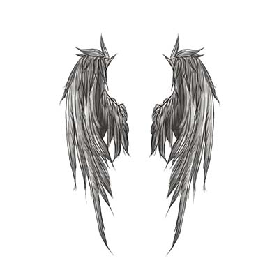 Flying Wings Of Angel Design Water Transfer Temporary Tattoo(fake Tattoo) Stickers NO.10886