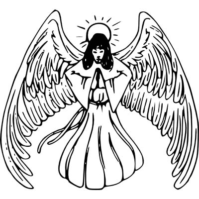 Praying Baby Angel Design Water Transfer Temporary Tattoo(fake Tattoo) Stickers NO.10896