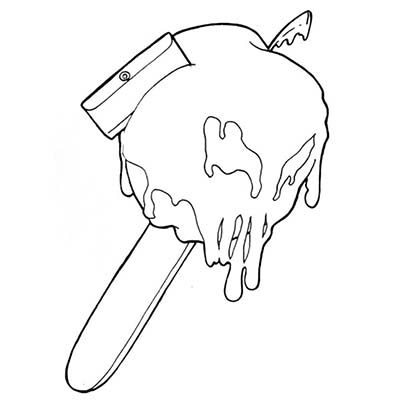 My Candy Apple Design Water Transfer Temporary Tattoo(fake Tattoo) Stickers NO.10901