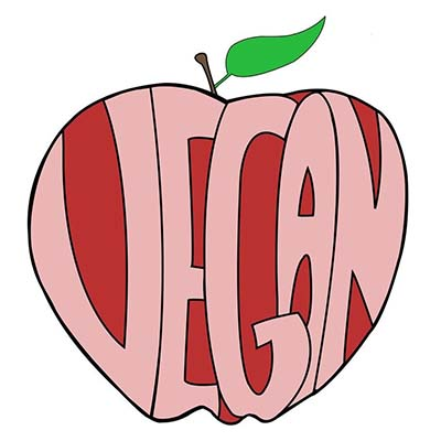 Vegan apple design Water Transfer Temporary Tattoo(fake Tattoo) Stickers NO.10904