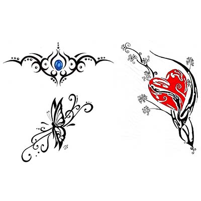 Impressive tribal aquarius design Water Transfer Temporary Tattoo(fake Tattoo) Stickers NO.10916