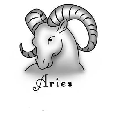Grey ink goat head aries design Water Transfer Temporary Tattoo(fake Tattoo) Stickers NO.10948
