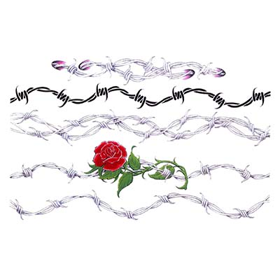 Barbed Wire Tribal Armband Design Water Transfer Temporary Tattoo(fake Tattoo) Stickers NO.10960