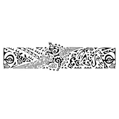 Hawaiian tribal armband Design Water Transfer Temporary Tattoo(fake Tattoo) Stickers NO.10970