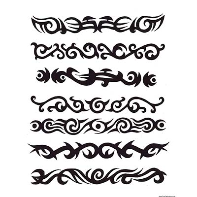 Tribal Armband Design Water Transfer Temporary Tattoo(fake Tattoo) Stickers NO.10987