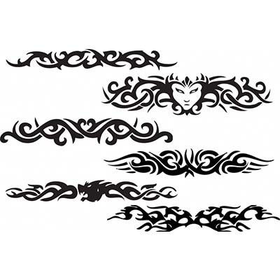Tribal Armband On Muscles Design Water Transfer Temporary Tattoo(fake Tattoo) Stickers NO.10984