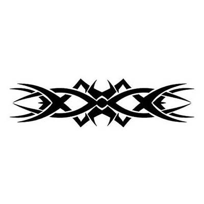 Tribal Armband With Black Ink Design Water Transfer Temporary Tattoo(fake Tattoo) Stickers NO.10986