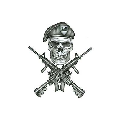Army Marine Design Water Transfer Temporary Tattoo(fake Tattoo) Stickers NO.10991