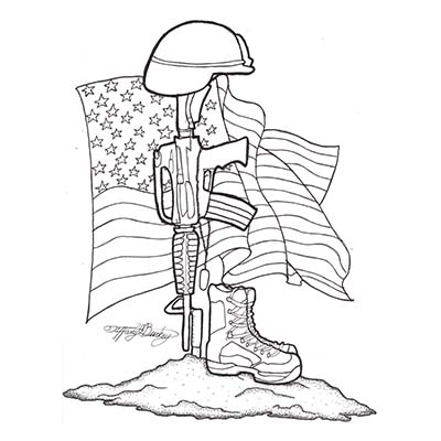 Army Soldier Memorial Design Water Transfer Temporary Tattoo(fake Tattoo) Stickers NO.10993