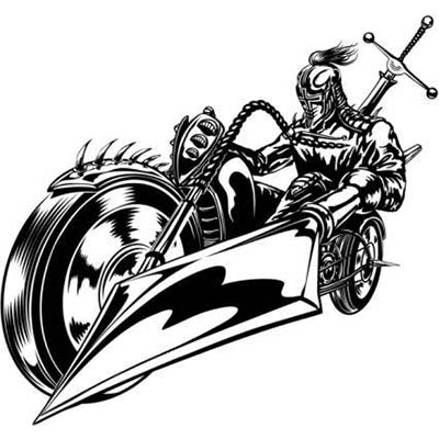Biker Design Water Transfer Temporary Tattoo(fake Tattoo) Stickers NO.11032