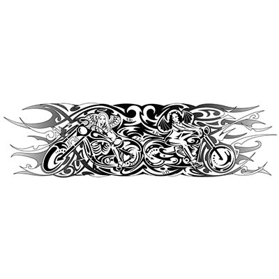 Biker Design Water Transfer Temporary Tattoo(fake Tattoo) Stickers NO.11042