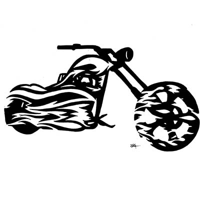 Biker Design Water Transfer Temporary Tattoo(fake Tattoo) Stickers NO.11049