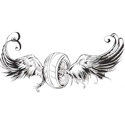 Biker wings Design Water Transfer Temporary Tattoo(fake Tattoo) Stickers NO.11048