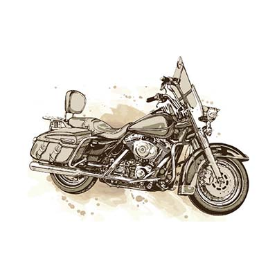 Vintage motorcycle sepia Design Water Transfer Temporary Tattoo(fake Tattoo) Stickers NO.11047
