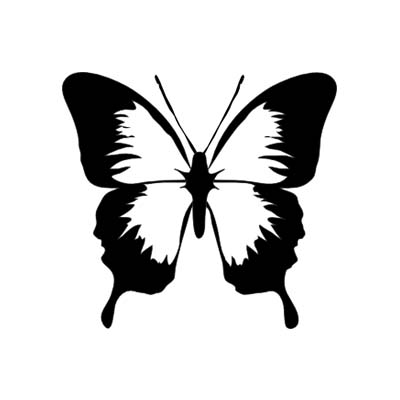 Butterfly Black Design Water Transfer Temporary Tattoo(fake Tattoo) Stickers NO.11056