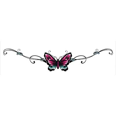 Butterfly Design Water Transfer Temporary Tattoo(fake Tattoo) Stickers NO.11055