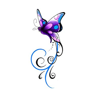Butterfly Design Water Transfer Temporary Tattoo(fake Tattoo) Stickers NO.11067