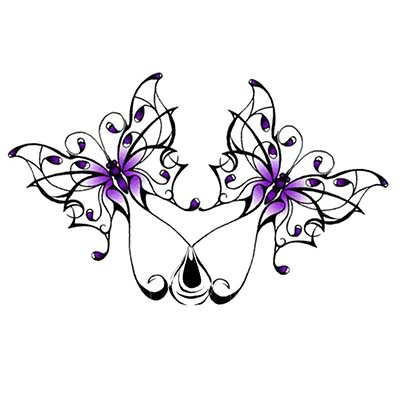Butterfly Design Water Transfer Temporary Tattoo(fake Tattoo) Stickers NO.11079