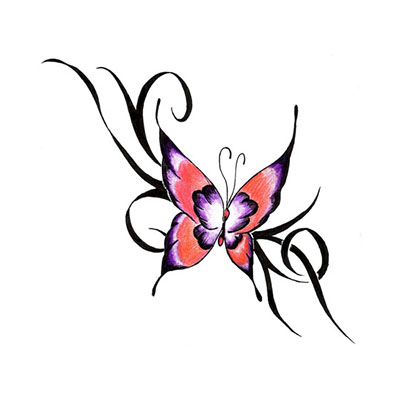 Butterfly Designs Picture Water Transfer Temporary Tattoo(fake Tattoo) Stickers NO.11058
