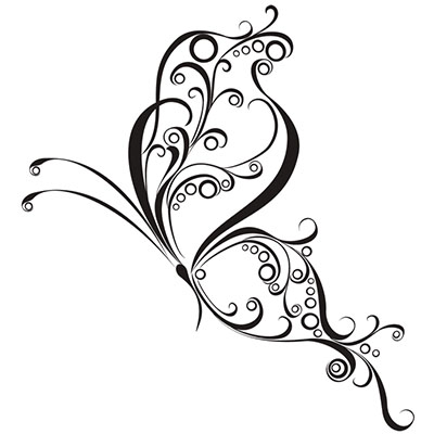 Butterfly For Women Design Water Transfer Temporary Tattoo(fake Tattoo) Stickers NO.11059